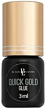 Парфюмерия и Козметика Лепило за изкуствени мигли - Black Lashes Quick Gold Glue For Eyelash
