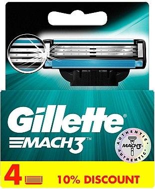 Сменяеми ножчета за бръснене, 4 бр. - Gillette Mach3 — снимка N5