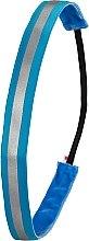 Парфюмерия и Козметика Лента за коса, неоново светлосиня - Ivybands Neon Blue Reflective Hair Band