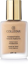 Парфюми, Парфюмерия, козметика Фон дьо тен - Collistar Perfect Wear Foundation SPF 10