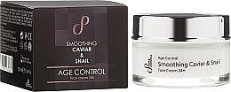Парфюмерия и Козметика Стягащ и изглаждащ крем за лице с екстракти от хайвер и охлюв - Hristina Cosmetics Sayaz Age Control Smoothing Caviar & Snail Face Cream 24H