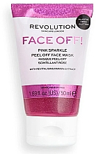 Парфюмерия и Козметика Пилинг маска за лице - Revolution Skincare Face Off! Pink Glitter Face Off Mask