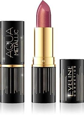 Червило за устни - Eveline Cosmetics Aqua Metallic Lipstick