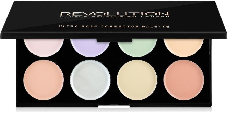 Палитра коректори за лице - Makeup Revolution Ultra Base Corrector Palette