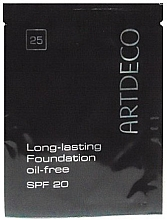 Парфюмерия и Козметика Водоустойчив фон дьо тен - Artdeco Long-Lasting Foundation Oil-Free (мостра)