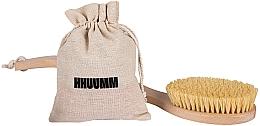 Парфюмерия и Козметика Четка за масаж с тампико влакно, с двойна извивка - Hhuumm № 6