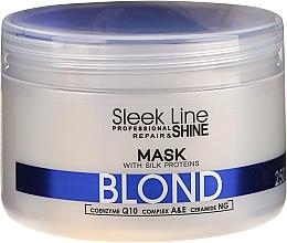 Парфюмерия и Козметика Маска за премахване на жълти нюанси на руса коса - Stapiz Sleek Line Blond Hair Mask