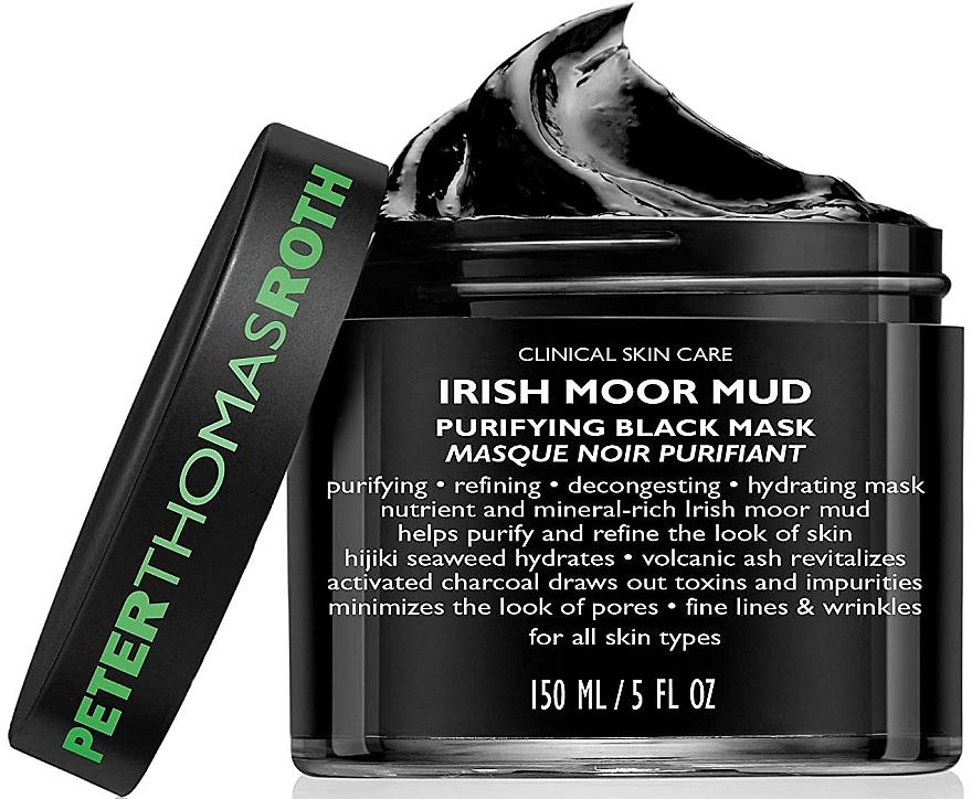 Почистваща маска за лице - Peter Thomas Roth Irish Moor Mud Purifying Black Mask — снимка N4