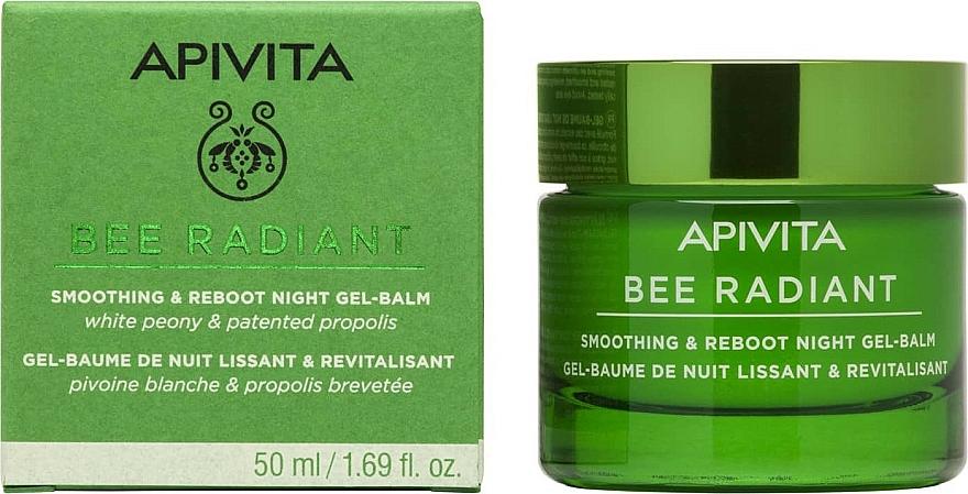Нощен изглаждащ гел-балсам с детокс ефект - Apivita Bee Radiant Smoothing & Reboot Night Gel-Balm — снимка N1