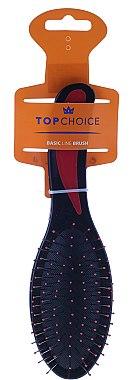 Четка за коса, черно-червена 2731 - Top Choice — снимка N1