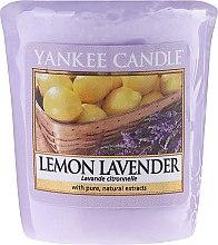 """Парфюмерия и Козметика Ароматна свещ """"Лимон и лавандула"""" - Yankee Candle Scented Votive Lemon Lavender"""