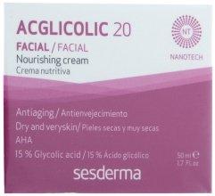 Парфюми, Парфюмерия, козметика Нощен подхранващ крем против стареене на кожата - SesDerma Laboratories Acglicolic 20 Nourishing Cream