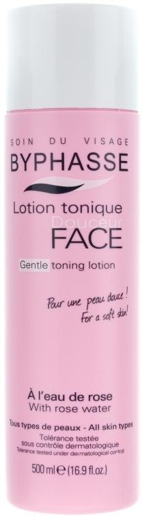 Тонизиращ лосион за лице с розова вода - Byphasse Gentle Toning Lotion With Rosewater All Skin Types