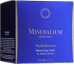 Парфюмерия и Козметика Хидратиращ крем за нормална и суха кожа - Mineralium Dead Sea HydraSource Moisturizing Cream For Normal To Dry Skin