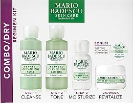 Парфюмерия и Козметика Комплект за лице - Mario Badescu Combo Dry Regimen Kit (сапун/59ml+почист. лосион/59ml+крем/29ml+маска/14g+околоочен крем/3g)