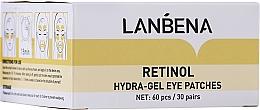 Парфюмерия и Козметика Подмладяващи хидрогел пачове за очи с ретинол и колаген - Lanbena Retinol Collagen Hydra-Gel Eye Patch