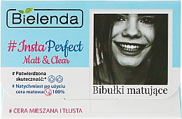 Парфюми, Парфюмерия, козметика Матиращи кърпички за лице - Bielenda #Insta Perfect Matt&Clear