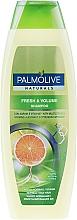 Парфюмерия и Козметика Освежаващ шампоан за обем с цитрусов екстракт и комплекс от витамини - Palmolive Naturals Fresh & Volume Shampoo