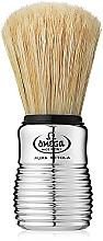 Парфюмерия и Козметика Четка за бръснене, 10081, сребриста - Omega