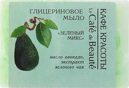 "Глицеринов сапун ""Зелен микс"" - Le Cafe de Beaute Glycerin Soap"
