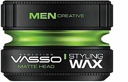 Парфюмерия и Козметика Матов восък за коса - Vasso Professional Hair Styling Wax Pro-Matte Head
