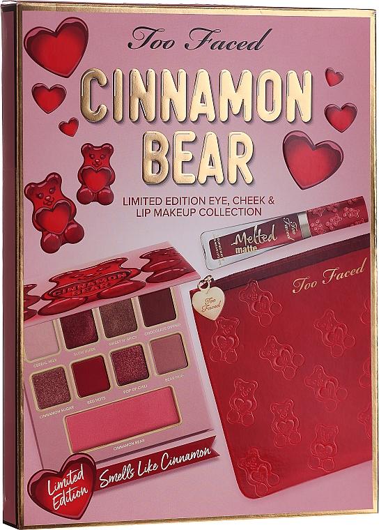 Комплект за грим - Too Faced Cinnamon Bear Makeup Set (палитра/9.9g + червило/7ml + козм. несесер)