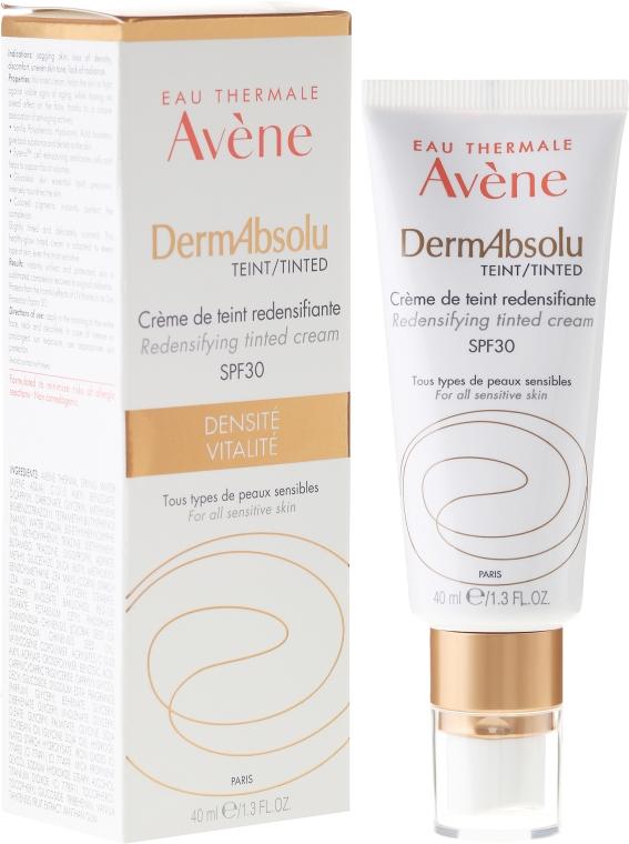 Тониращ крем за лице, възстановяващ плътността на кожата SPF 30 - Avene Eau Thermale Derm Absolu Cream SPF30