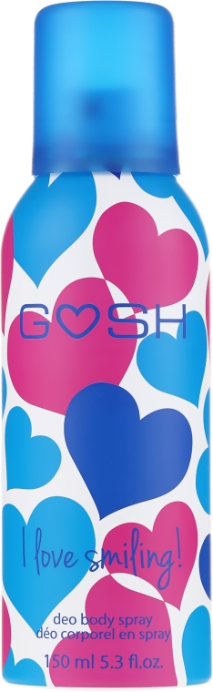 Спрей дезодорант - Gosh I Love Smiling Deo Body Spray