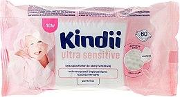 Парфюмерия и Козметика Детски мокри кърпи, 60 бр. - Cleanic Kindii Baby Sensitive Wipes