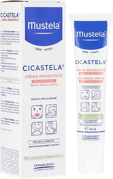 Възстановяващ крем за раздразнена кожа - Mustela Cicastela Repairing Cream Irritated Skin — снимка N1