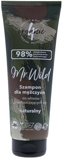 Шампоан за мъже за мазна коса - 4Organic Mr Wild Shampoo For Men For Greasy Hair