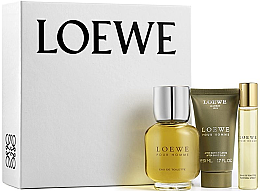 Парфюмерия и Козметика Loewe Loewe Pour Homme - Комплект (тоал. вода/100ml + афтър. балсам/50ml + тоал. вода/20ml)