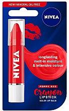 Парфюми, Парфюмерия, козметика Балсам за устни - Nivea Poppy Red Crayon Lipstick