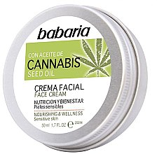 Парфюмерия и Козметика Крем за лице - Babaria Cannabis Seed Oil Face Cream