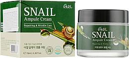 Парфюмерия и Козметика Ампулен крем за лице със секрет от охлюв - Ekel Snail Ampule Cream