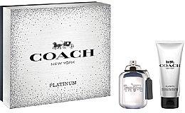 Парфюми, Парфюмерия, козметика Coach Platinum - Комплект (тоал. вода/60ml + душ гел/100ml)