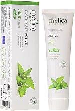 Парфюмерия и Козметика Паста за зъби с екстракт от мента - Melica Organic