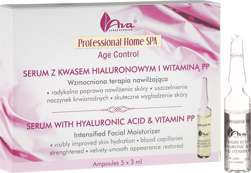 Серум за лице с хиалуронова киселина и витамин РР - Ava Laboratorium Home SPA With Hyaluronic Acid & Vitamin PP Serum
