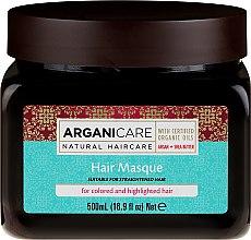 Парфюмерия и Козметика Маска за боядисана коса - Arganicare Shea Butter Argan Oil Hair Masque