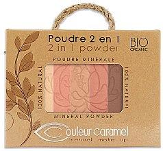 Парфюмерия и Козметика Пудра за лице - Couleur Caramel Essence De Provence 2in1 Powder