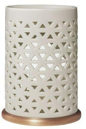Керамична аромалампа - Yankee Candle Belmont Punched Ceramic Wax Melt Burner — снимка N1