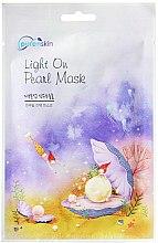 Парфюмерия и Козметика Памучна маска за лице с ектракт от перла - Purenskin Light On Pearl Mask