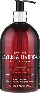 Течен сапун за ръце - Baylis & Harding Black Pepper & Ginseng Hand Wash