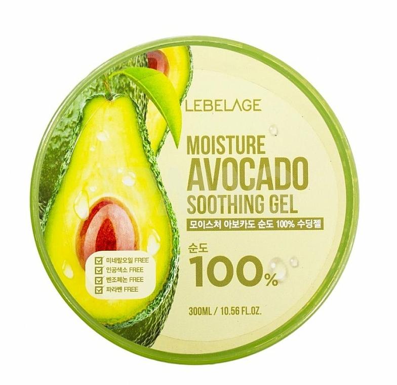 Хидратиращ гел за лице и тяло с авокадо - Lebelage Moisture Avocado 100% Soothing Gel
