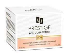 Парфюмерия и Козметика Изглаждащ нощен крем - AA Prestige Age Corrector 40+ Night Cream Anti Wrinkle