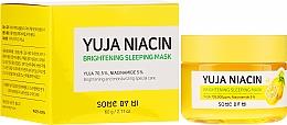 Парфюмерия и Козметика Нощна изсветляваща маска за лице - Some By Mi Yuja Niacin Brightening Sleeping
