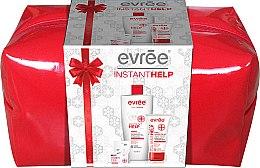 Парфюмерия и Козметика Комплект балсам за устни, крем за сухи ръце, балсам за тяло и чанта - Evree Instant Help (lip/balm/10ml + h/cr/75ml + balm/400ml + bag)