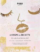 Парфюмерия и Козметика 3 степенна маска за лице - Pibu Beauty 3 Steps To Beauty Mask