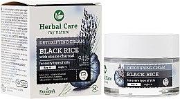 Парфюми, Парфюмерия, козметика Детоксикиращ крем за лице с черен ориз - Farmona Herbal Care Black Rice