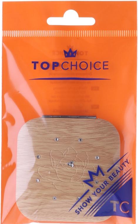 Компактно огледалце, квадратно, бежово 85673 - Top Choice — снимка N1
